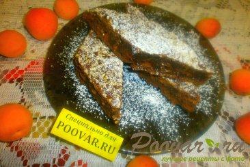 Шоколадный пирог с творогом и бананом Изображение