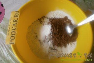 Шоколадный пирог с творогом и бананом Шаг 1 (картинка)