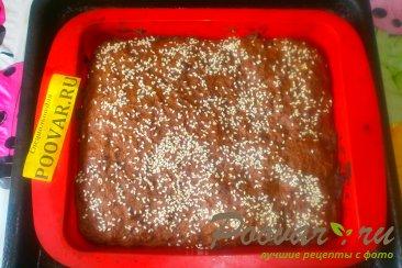 Шоколадный пирог с творогом и бананом Шаг 14 (картинка)