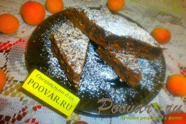 Шоколадный пирог с творогом и бананом Шаг 17 (картинка)