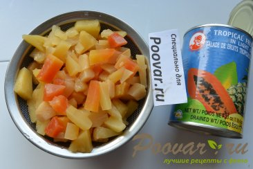Творожный чизкейк с фруктами Шаг 1 (картинка)