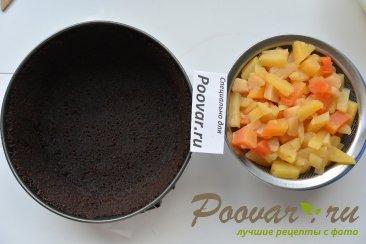 Творожный чизкейк с фруктами Шаг 9 (картинка)