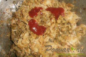 Жареные пирожки с капустой и баклажанами Шаг 11 (картинка)