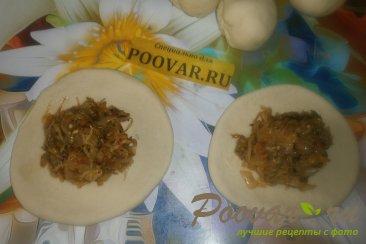 Жареные пирожки с капустой и баклажанами Шаг 15 (картинка)