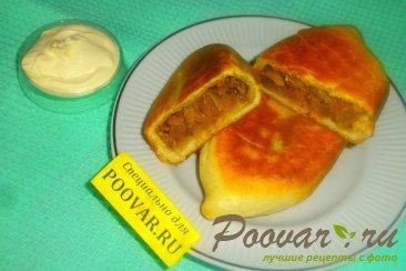 Жареные пирожки с капустой и баклажанами Шаг 20 (картинка)