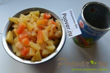 Манник на кефире с фруктами Шаг 11 (картинка)