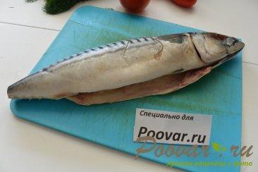 Скумбрия запеченная с овощами в рукаве Шаг 2 (картинка)