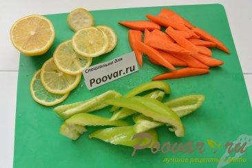Скумбрия запеченная с овощами в рукаве Шаг 5 (картинка)