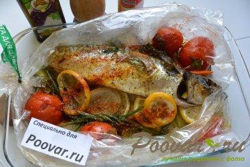 Скумбрия запеченная с овощами в рукаве Шаг 13 (картинка)