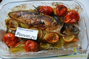 Скумбрия запеченная с овощами в рукаве Шаг 14 (картинка)