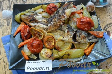 Скумбрия запеченная с овощами в рукаве Шаг 15 (картинка)