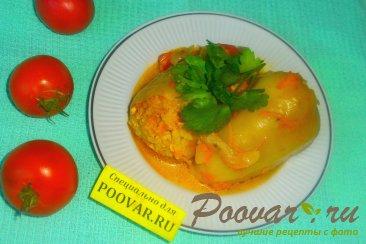Фаршированный перец в томатно-сметанном соусе Изображение