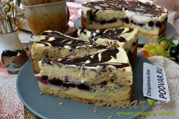 Пирог с творогом и сметаной Изображение