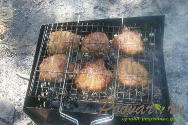 Куриные бёдра с хмели - сунели на мангале Шаг 10 (картинка)