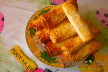 Рулеты из лаваша с сыром в духовке Шаг 11 (картинка)