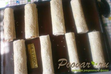 Рулеты из лаваша с сыром в духовке Шаг 9 (картинка)