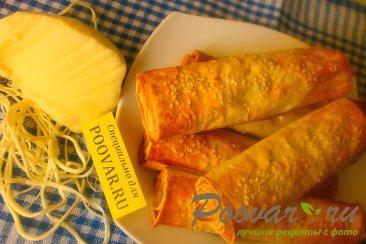 Рулеты из лаваша с сыром в духовке Шаг 12 (картинка)