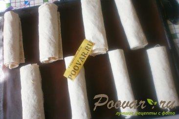 Рулеты из лаваша с сыром в духовке Шаг 8 (картинка)