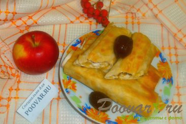 Рулеты из лаваша с яблоками Изображение