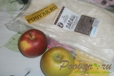 Рулеты из лаваша с яблоками Шаг 1 (картинка)