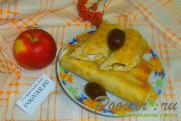 Рулеты из лаваша с яблоками Шаг 12 (картинка)