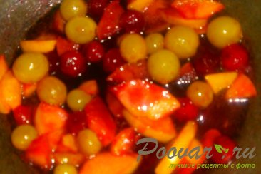Тыква с вишней и виноградом Шаг 10 (картинка)
