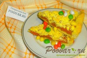 Тёртый пирог с абрикосами Изображение