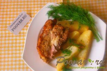 Свиная грудинка запечённая с картофелем Изображение