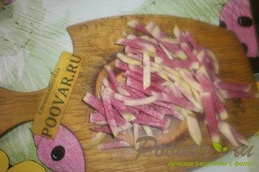 Салат с красной редькой Ред Мит Шаг 6 (картинка)