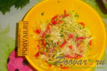 Салат с красной редькой Ред Мит Шаг 13 (картинка)