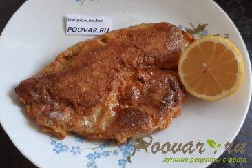 Рыба жареная на сковороде Изображение
