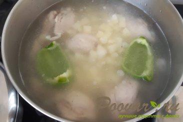 Куриный суп с перловкой Шаг 9 (картинка)