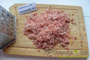 Картофельные оладьи с мясом и сыром Шаг 3 (картинка)