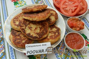 Картофельные оладьи с мясом и сыром Шаг 13 (картинка)