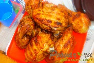 Запечённая курица на  мангале Изображение