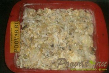 Заливной пирог с пекинской капустой и грибами Шаг 13 (картинка)