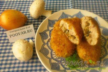 Мясные зразы с луком и грибами Изображение