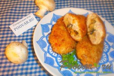 Мясные зразы с луком и грибами Шаг 17 (картинка)