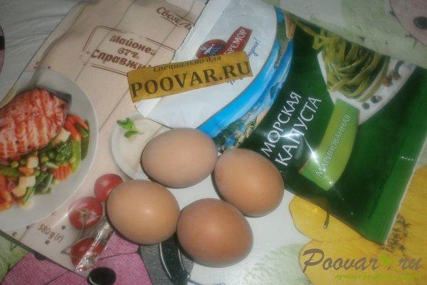Салат из морской капусты с яйцом Шаг 1 (картинка)