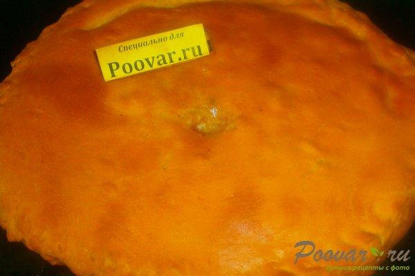 Пирог с картофелем и курицей из дрожжевого теста Изображение