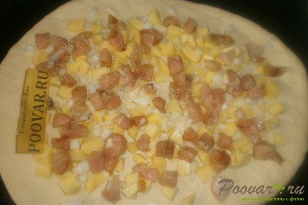 Пирог с картофелем и курицей из дрожжевого теста Шаг 13 (картинка)