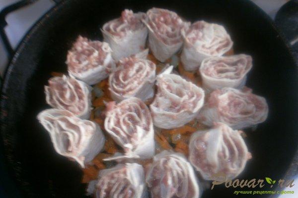 Ленивые пельмени из лаваша с овощами Шаг 14 (картинка)