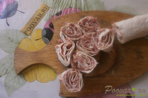 Ленивые пельмени из лаваша с овощами Шаг 13 (картинка)