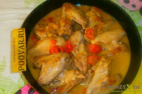 Куриные крылышки с овощами Шаг 14 (картинка)
