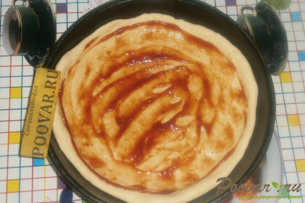 Пицца с вялеными помидорами и шпинатом Шаг 6 (картинка)