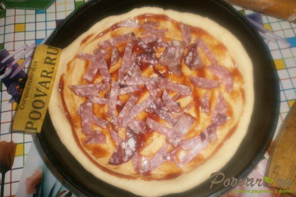 Пицца с вялеными помидорами и шпинатом Шаг 8 (картинка)