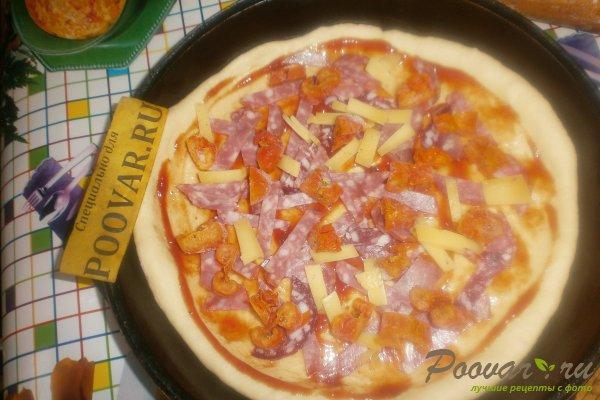 Пицца с вялеными помидорами и шпинатом Шаг 10 (картинка)