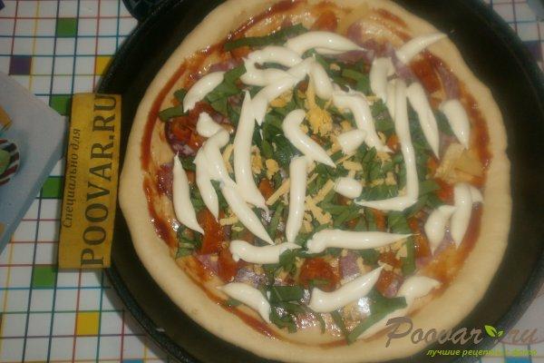 Пицца с вялеными помидорами и шпинатом Шаг 13 (картинка)