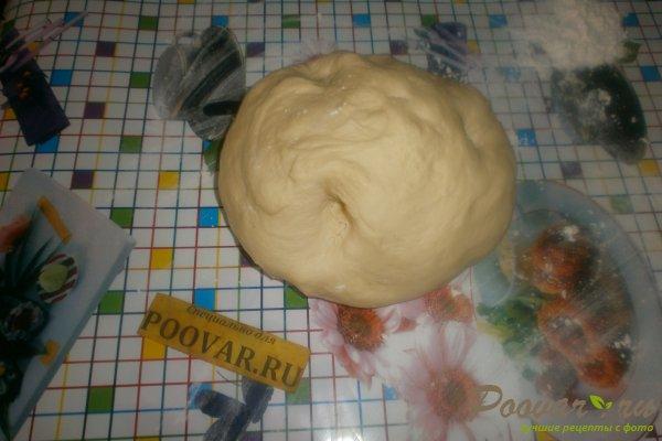 Слойки с сыром в духовке из дрожжевого теста Шаг 8 (картинка)