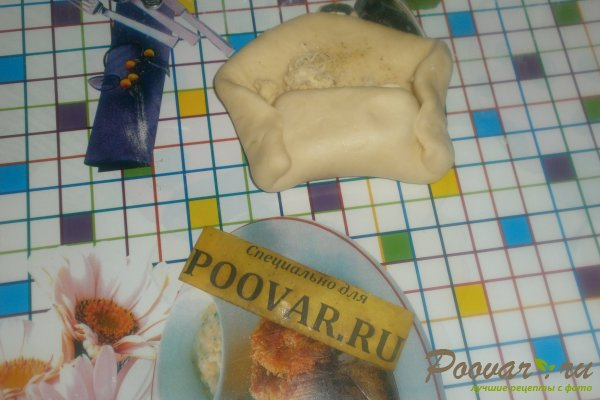 Слойки с сыром в духовке из дрожжевого теста Шаг 15 (картинка)
